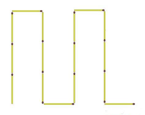Как из 10 спичек сделать 5 крестов через две спички